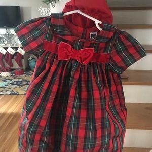Janie and Jack Christmas dress 12-18 mo